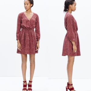 Madewell Silk Faux Wrap Dress